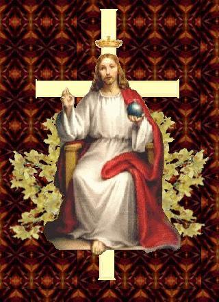 KING Jesus throne w cross